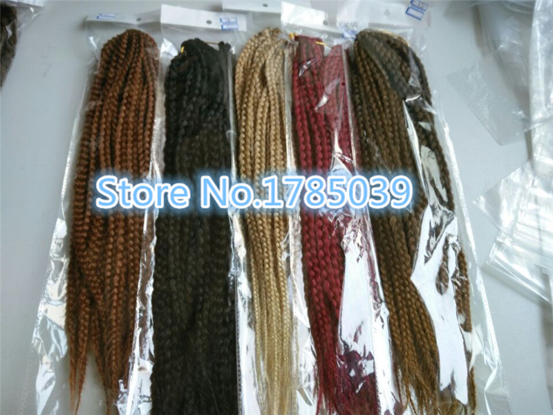 3s box braids 18 24inch crochet hair extensions bohemia style 1 3s box braids 18 24inch crochet hair extensions bohemia style 1 piece 20 rootspiece kanekalon fiber synthetic twist braids in bulk hair from hair pmusecretfo Gallery