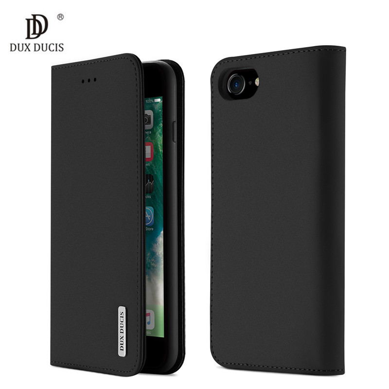 Luxury Flip PU Genuine Leather Case for Apple iPhone 7 Wallet Stand Card Slot Phone Bags Case For iPhone 8 Cover fundas 4.7 inch