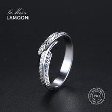 2856320689c3 Lamoon 2017 nueva pluma plumaje 925-de plata ajustable anillos S925 bien de  la joyería para las mujeres regalo de boda LMRY049