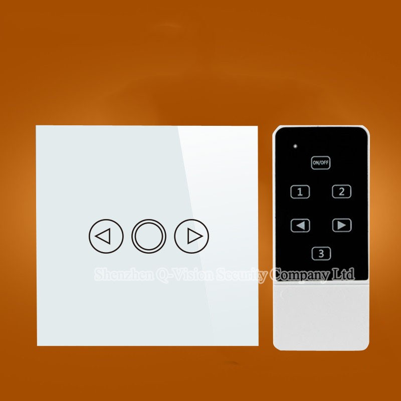2---Smart Home Wireless UK 1 gang  Remote Control Wall Light Dimmer Switch Touch Luxury Glass for Broadlink RM2 RM Pro RF433MHZ