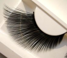 1 pairs End of eye elongated performing arts school stage make-up   false eyelashes   KZ01