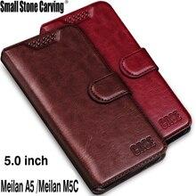 Телефон Обложка для Meizu M5c чехол 5.0 дюймов Роскошные PU кожаный бумажник телефон чехол для meilan A5 M710h флип обложка сумка