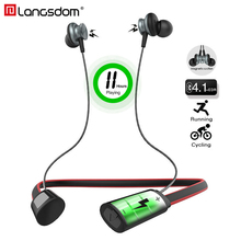 Langsdom 11 Hours Playing Wireless Bluetooth font b Earphone b font for Phone Bass Bluetooth Headset
