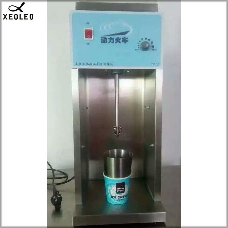XEOLEO Blizzard Ice cream maker 800W Flurry ice cream blender 8000rpm MC Flurry ice cream mixer Stainless steel Milkshaker