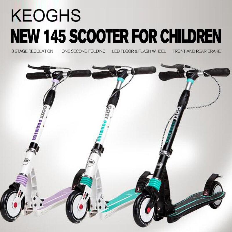 Новая модель для взрослых и детей Kick скутер ручной тормоз Складная pu 2 колеса все алюминиевые амортизацией городской кампус транспорт