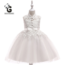 2019 Kids Dress Girls Wedding Princess Flower Girl Dress Communion Party Dresses for Girls Royal Kids Pageant Evening Dresses недорого