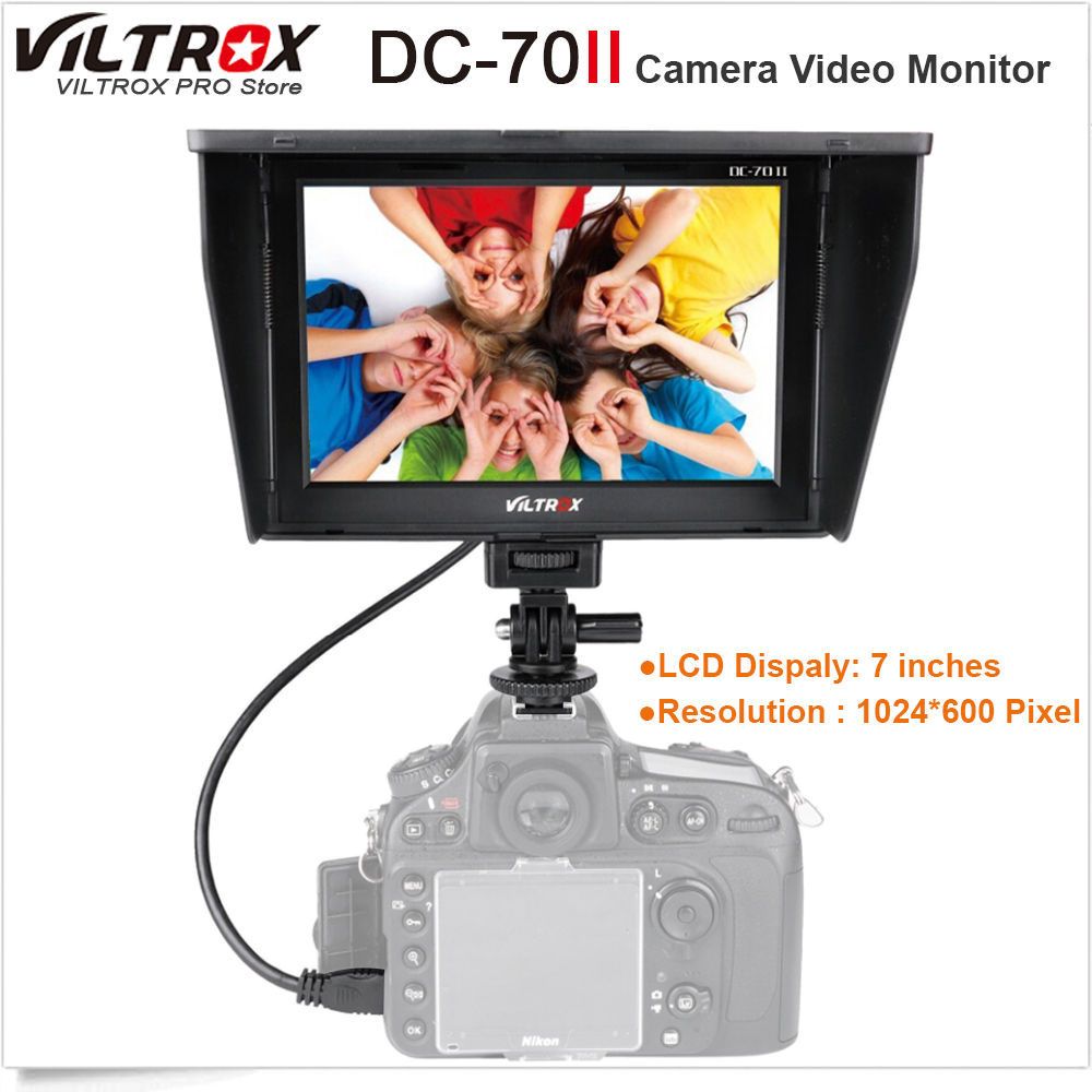 Viltrox DC-70II 7 4K LCD Camera Video Monitor HDMI AV Input 1024*600 Display for Canon Nikon BMMCC DSLR