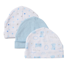 3PCS/LOT 2017 Hot Sale  Unisex Baby Caps for Boys Girls Newborn Boy Girls Hats character cute Infant Caps 0-3 Months