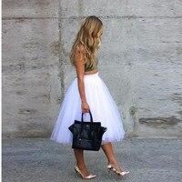 Pure White Tutu Skirt Midi Skirt Simple style Womens skirt friends party shopping woman skirt top custom Leg length