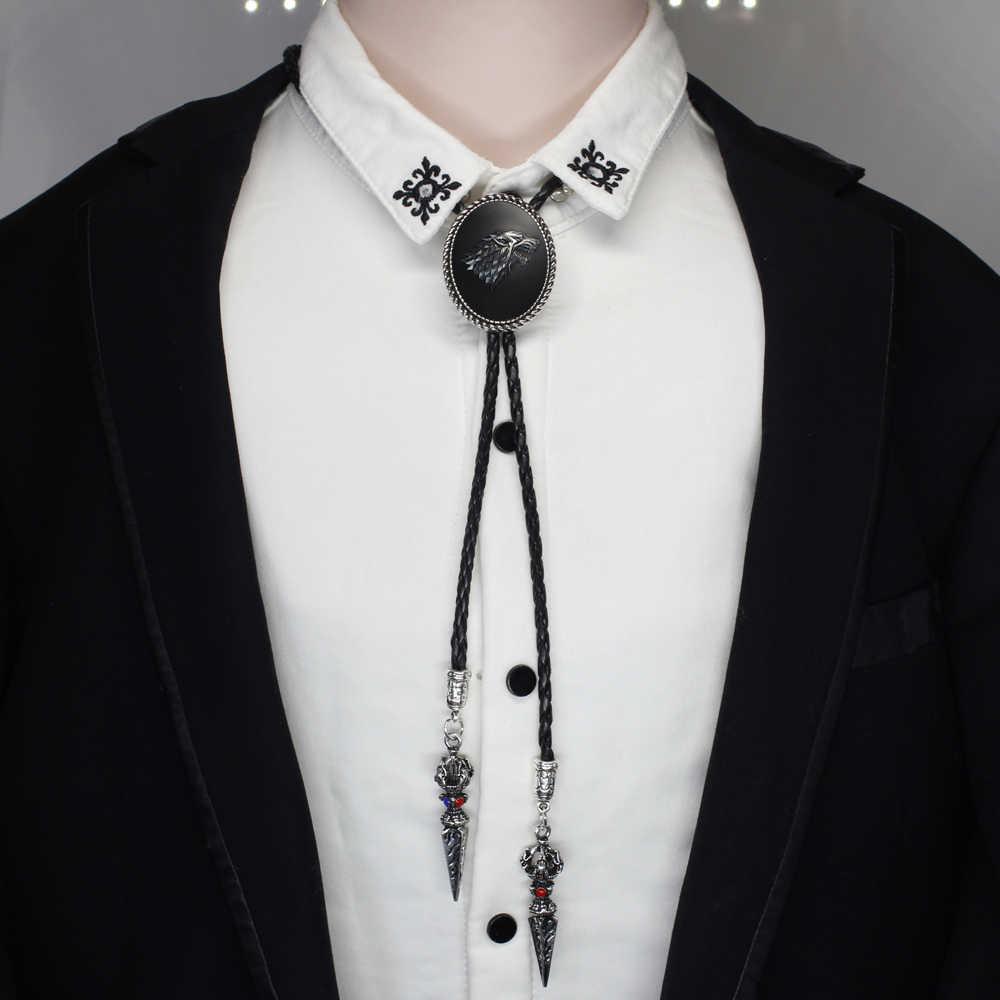 HZSHINLING nowa modna gra o tron Bolo-krawat wilk zimowy jest nadchodzi Stark krawat Bolo starkHandmade biżuteria koszula krawaty