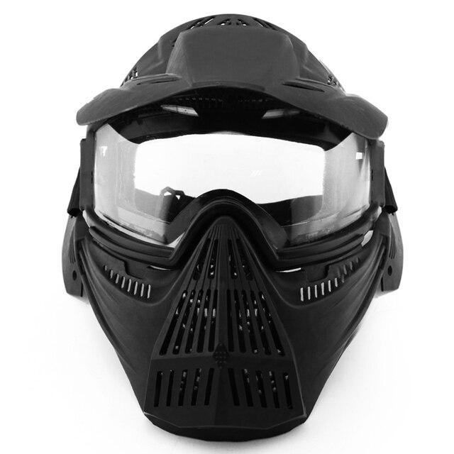 Tático Máscara Facial Máscara de Proteção Anti-Nevoeiro Óculos de Ciclismo  Óculos de Caça Ao f496e456a0