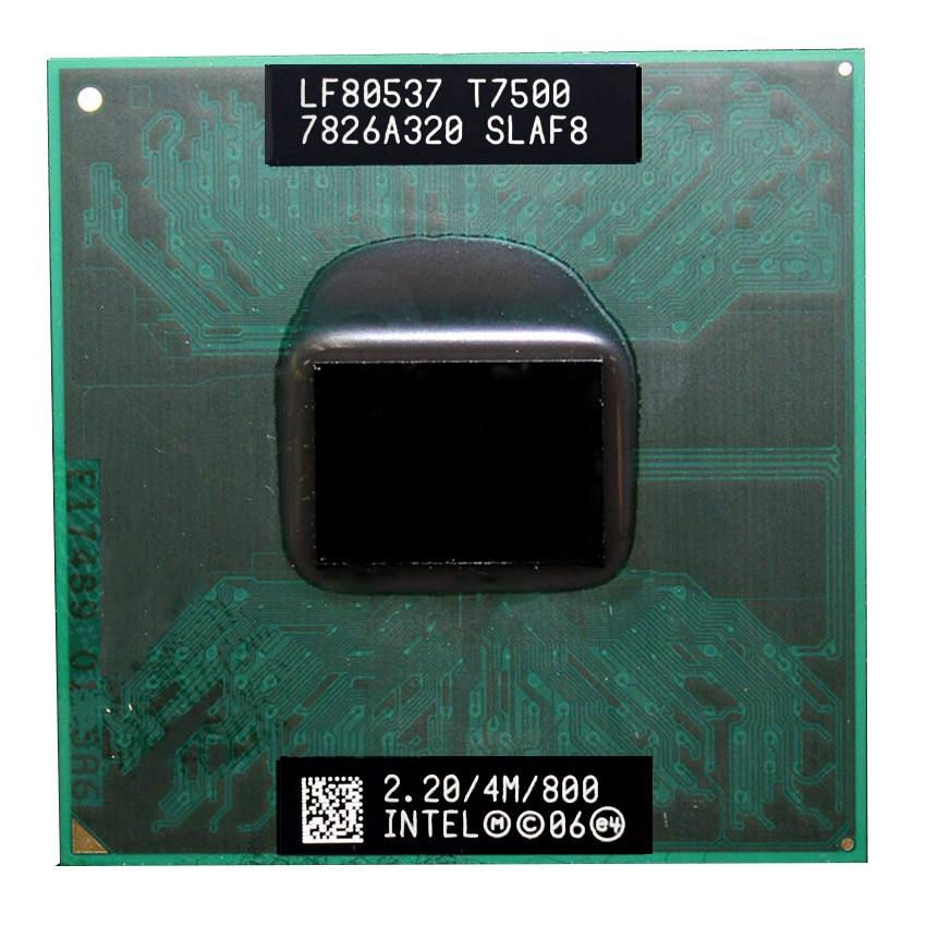 Intel core duo t7500 cpu (cache de 4 m, 2.2 ghz, 800 mhz fsb), processador portátil de duplo núcleo para 965 chipset