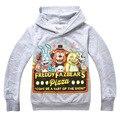 Nuevo 2016 muchacho de la historieta sudaderas con capucha de primavera otoño niño sweatershirt niños Ovecoat prendas de vestir exteriores 4-12y vetement enfant b0736
