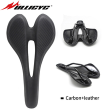 Ullicyc Mountain/Road Bike Comfort Wided Bicycle Seat Carbon Fiber Saddle  MTB Cycling Cushion