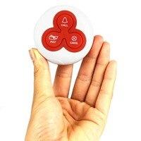 Беспроводная кнопка вызова звонок пейджер кнопка вызова передатчик система вызова для ресторана пейджер для отеля оборудования 433 МГц F4413B