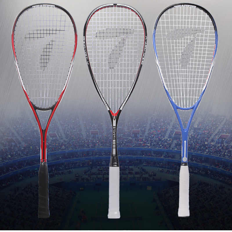 Professional Squash Racket Aluminum With Carbon Fiber Material For Squash Sport Training Beginner Advanced With Carry Bag