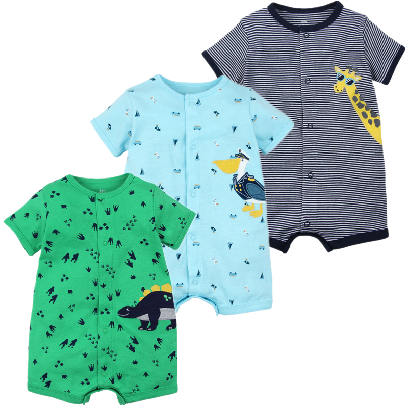 2019 NEW stlye Summer baby boys   rompers   kids Short sleeve clothing Baby girls cotton Jumpsuit Newborn   rompers   0-24M baby clothes