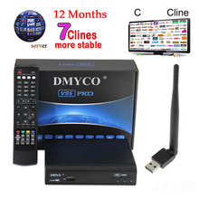 DMYCO Full HD 1080p satellite Decoder V9S PRO Receptor With USB WIFI Support BISS Key IPTV Powervu Youtube satellite receiver