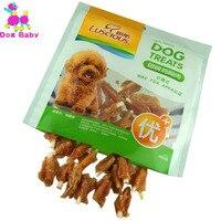 Dogbaby dog gà đồ ăn nhẹ feeder 100% nguyên liệu tươi thức ăn vật nuôi sức khỏe puppy chew đào tạo snack ngon 400 gam/cái food feeder