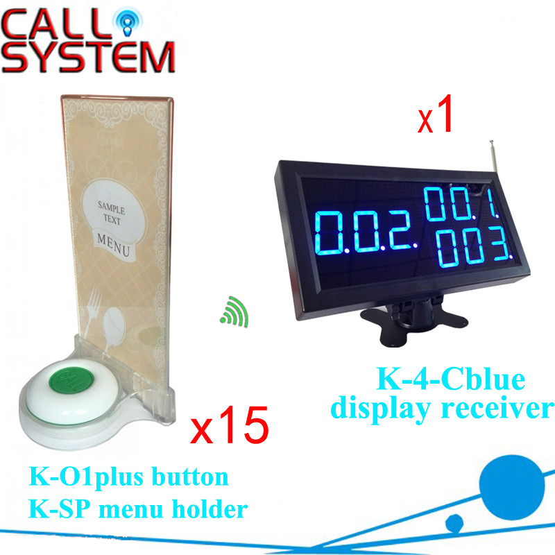 K-4-Cblue+O1plus+KSP 1+15+15 Wireless pager beeper system
