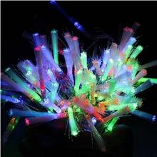 AC 220V Christmas LED String lights 10M 100 Leds Dandelion Optic Fiber Fairy Light Wedding Party Christmas Decoration Lights