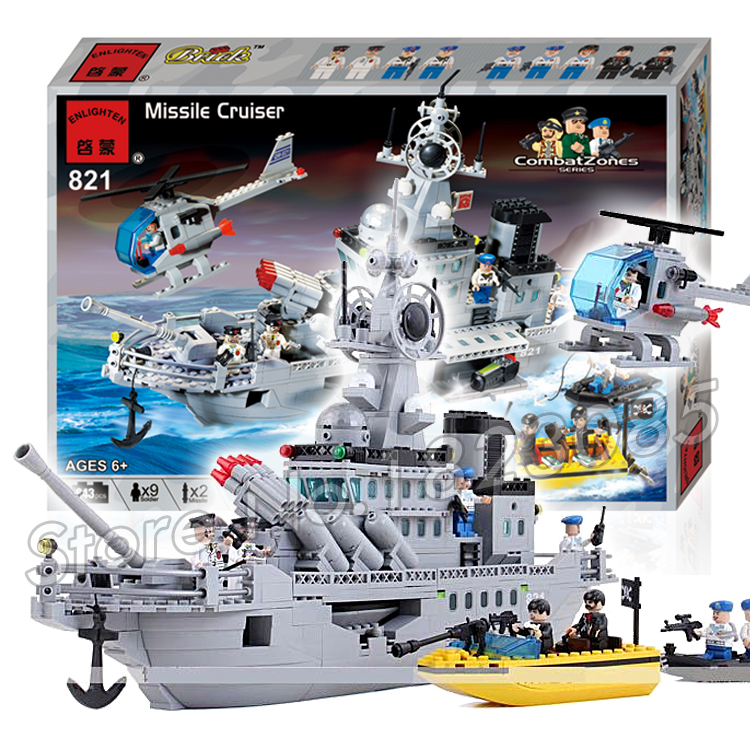843pcs 2016 new Hot New CombatZones Missile Cruiser large model Christmas Gift Building Blocks toys Compatible With Lego 2016 extra large 3d printer with 400x400x470mm building envelope