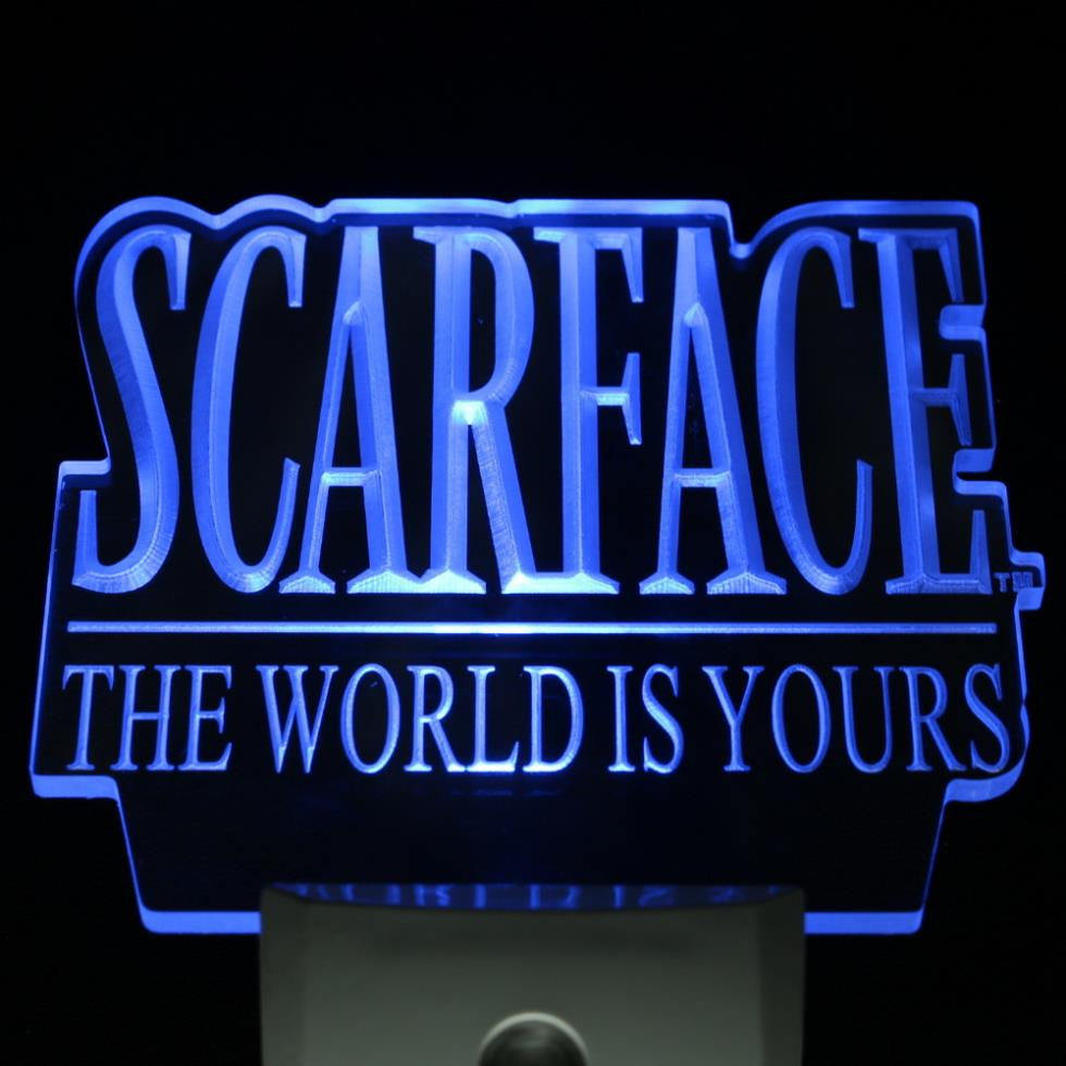ws0065 Scarface The World is Yours Day/ Night Sensor Led Night Light Sign