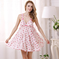 Summer flowers cotton condole nightgown thin sweet loose  big yards increased leisure household to take