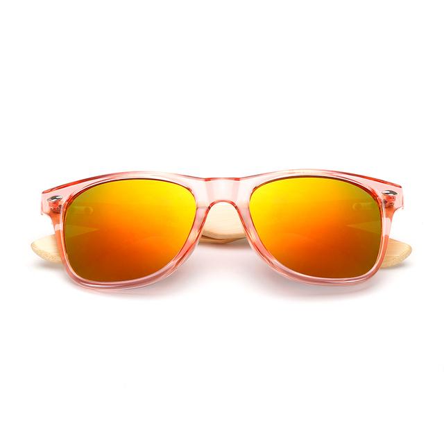 Handmade Wood Square Sunglasses For Men Women Retro Vintage Fashion