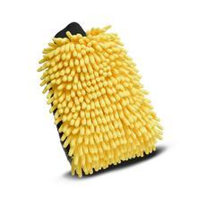 قفازات غسيل السيارات المصنوعة من الألياف الدقيقة والشنيل ، 4 في 1 ، سميكة ، متعددة الوظائف ، شمع ، فرشاة السيارة ، قطعة واحدة