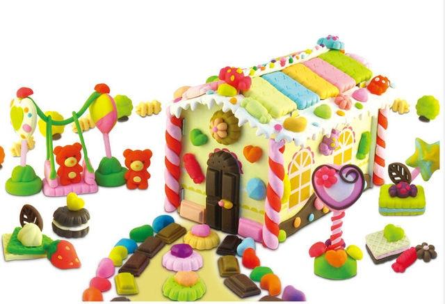 Funny Candy Paradise Plasticine Play Doh,Creative Handmade DIY Toy Plasticine for Children Birthday Gift