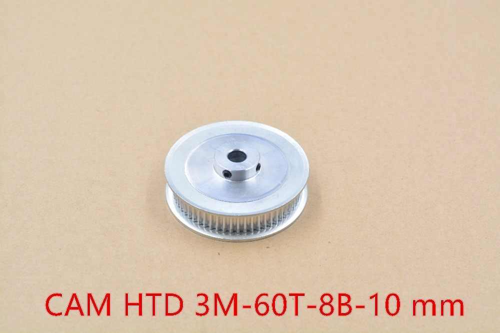 3d מדפסת גלגלת אלומיניום HTD 3 M עיתוי 60 שיניים נשא 8mm fit עבור חגורת רוחב 10mm- 60T-8B-10 1 pcs