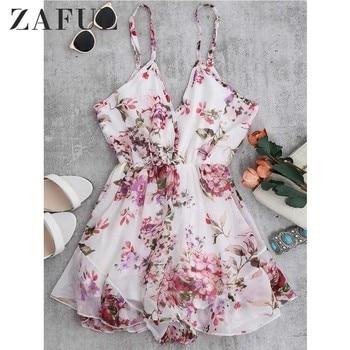 ZAFUL Summer Holiday Floral Print Women ...