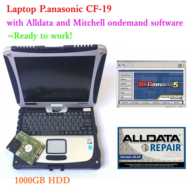 2019 Alldata Mitchell On Demand Software With Laptop Cf19 Ready To Work All Data 10.53+mitchell On Demand 2015 In 1tb Hdd Usb3.0