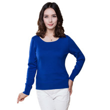 2016 Cashmere Sweater  Women Sweaters and Pullovers Women Fashion O Neck Solid Color Long sleeve XXL Knitted Sweater