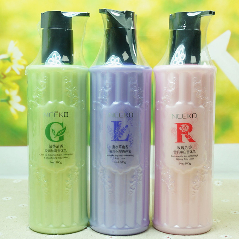1 pc Green tea/rose/lavender fragrance perfumed Moisturizing Body Lotion Whitening Aromatic Body Cream Nourish Smooth 300g B4106