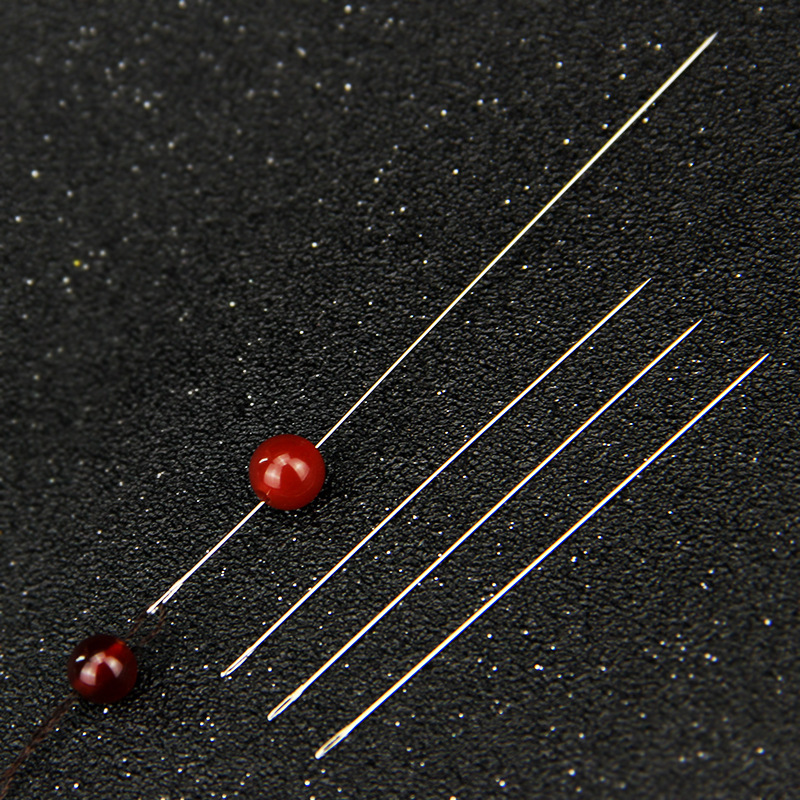 Doreen Box Wholesale 30PCs Long Iron Hand Beading Needles Tools Pin For Jewelry Bracelet Necklace DIY Size From 55mm To 150mm