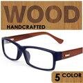 2016 Новый очки деревянная рамка нога повелительницы близорукость очки оптический очковая оправа высокое качество прозрачные линзы очки
