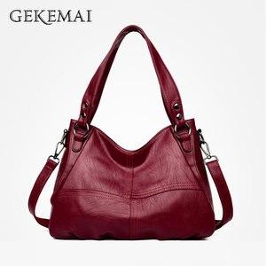 Image 2 - 2019 Sheepskin Leather Ladies Handbags Female Messenger Bags Designer Crossbody Bags for Women Tote Shoulder Bag for Girls Bolsa