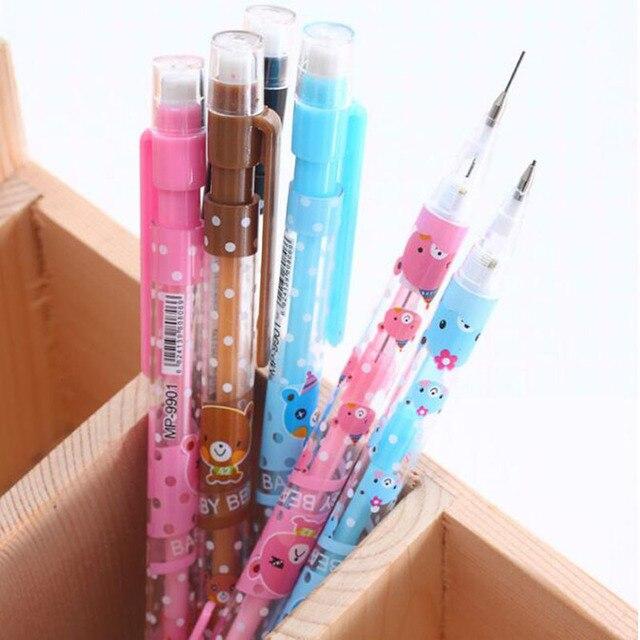 1 шт./лот 0.7 мм милый медведь серии 0.7 мм автоматический карандаш точка башня автоматическая ручка для детей школьные принадлежности