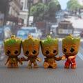4 шт. стражи Галактики Детская Дерево человек мини-фигуркы игрушки Grootted Treeman миниатюрные фигурки для украшения автомобиля игрушки