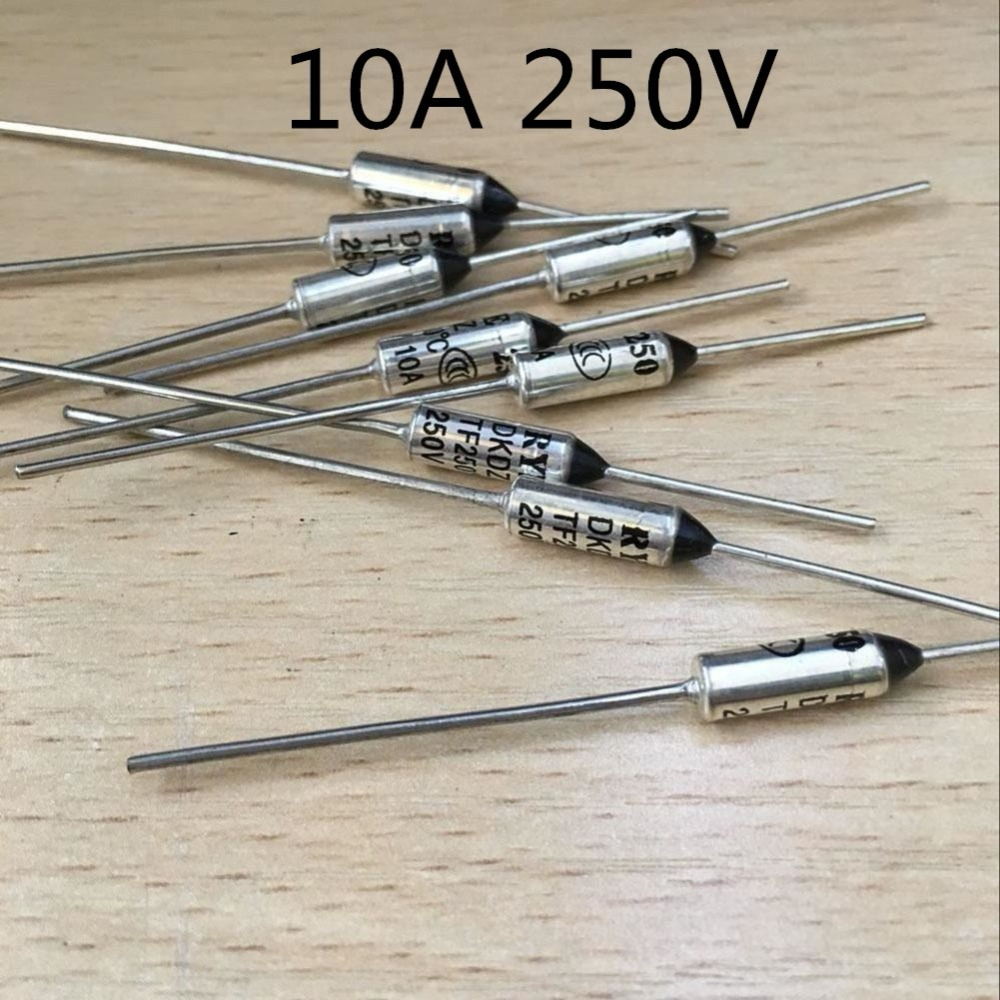 5 PCS-10 PCS/fusível RY TF 216 169 113 104 100 Graus 216C 95 169C 113C 104C 100C 95C 10A 250 V Fusível Térmico de Metais