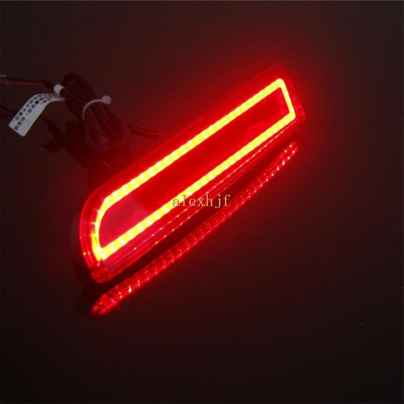 Varthion LED Light Guide Brake Lights Case for Mitsubishi Lancer ASX Outlander Sport, Brake +Turn Signal +Running Warning Lights chrome plated exterior door outside handle for mitsubishi outlander cu2w cu4w 4g64 4g69 lancer cs3a cs5a cs6a mr970227 mr970228