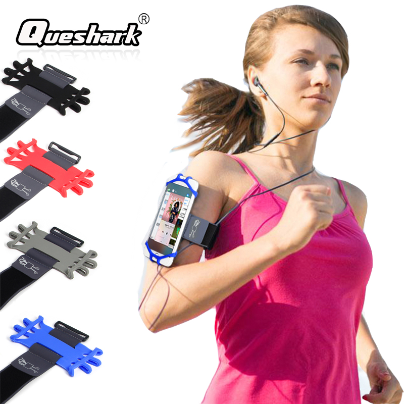 Running Armband Bag Sport Silicone Band Phone Holder For Exercise Gym Cycling Jogging Fitness Cellphone Arm Band Bag+Key Holder