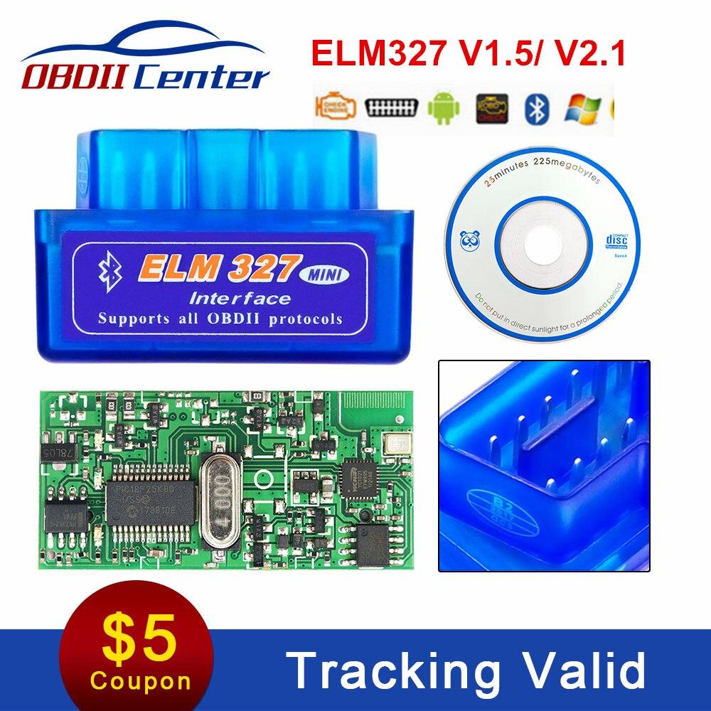 Super Mini Elm327 V1.5 Obd2 PIC18F25K80 Bluetooth 4.0 Leitor de Código de OBDII Elm 327 Interface de 1.5 WIFI Obd II Scanner De Diagnóstico