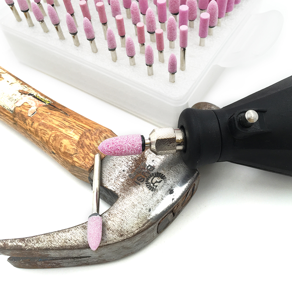 Utensile rotante da 10 pezzi Pietra abrasiva per smerigliatura - Utensili abrasivi - Fotografia 4