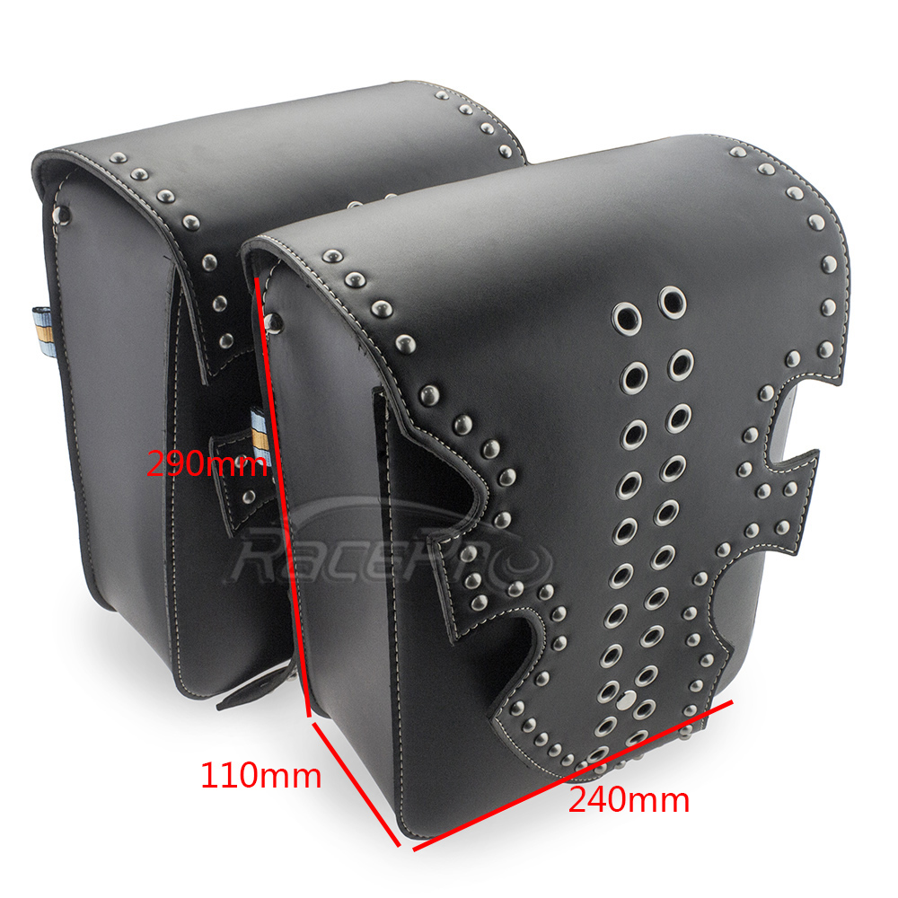 Home The Cheapest Price Motorcycle Leather Bags Saddlebags Case For Motorcycle Harley Sportster Touring Xl883 Xl1200 Road King Road Glide Shrink-Proof