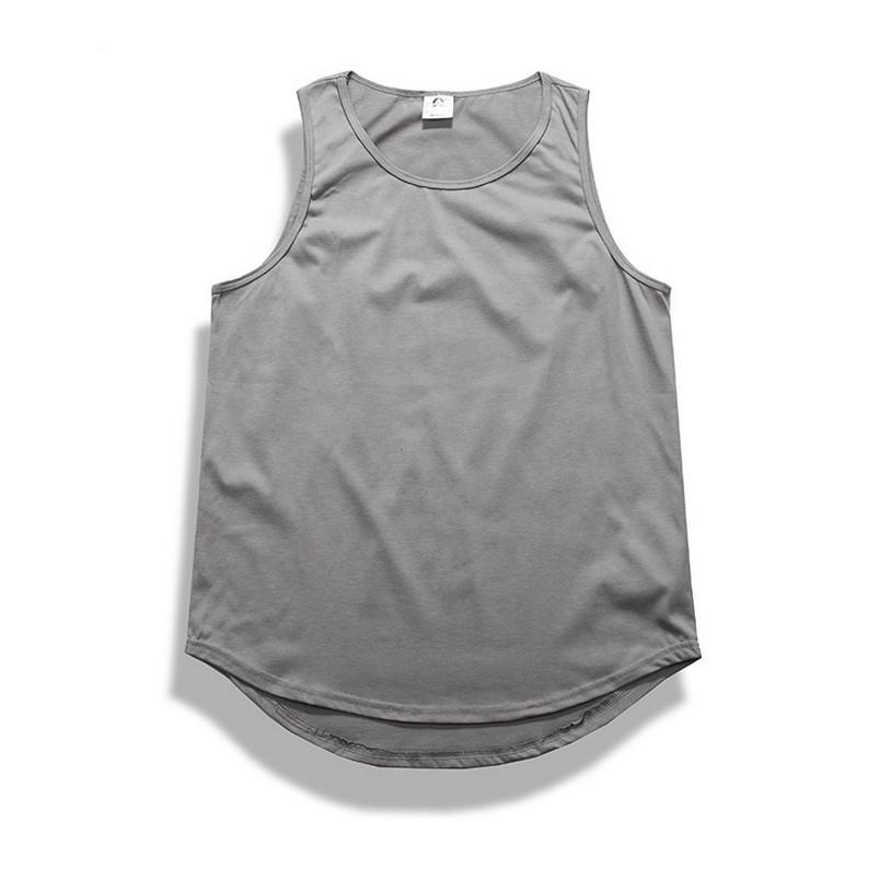 50b3838bef340 Good quality hip hop clothes pure color loose vest men streetwear ...