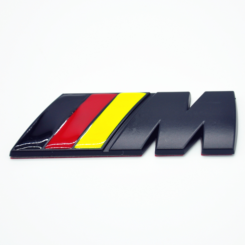 Us 11 03 31 Off M Tech Sport Front Grill Rear Trunk Badge Black German Flag M Emblemx1 E30 E36 E46 E90 E39 E60 E38 320 318 325 330 335 Z3 Z4 M3 In