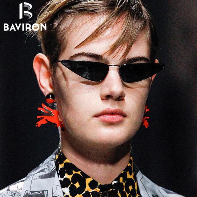 f48aa46280 BAVIRON Vintage Sunglasses Women Cat Eye Sunglasses Men UV400 Retro Small  Frame Cateye Sun glasses Brand